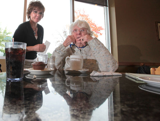 Shirley Strysick enjoys coffee at Connection Cafe