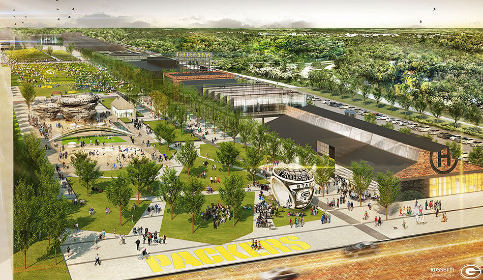 Titletown rendering, Packers photo