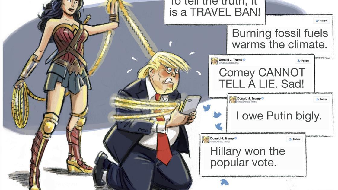 Wonder Woman Lassos Trump In R J Matson S Latest