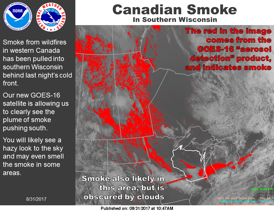 Smoke, Haze in Woodstock is From Canada's Wildfires