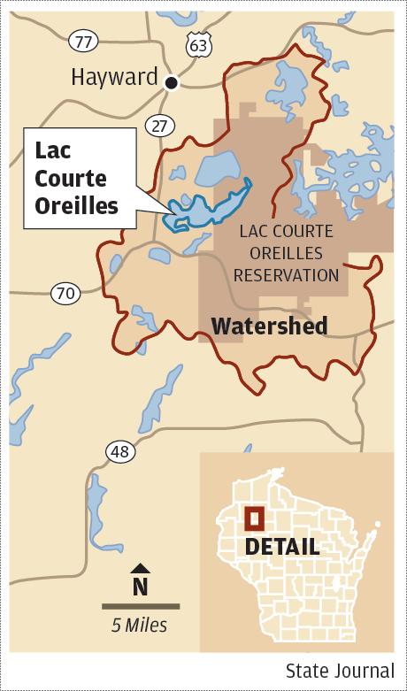 Lac Courte Oreilles map