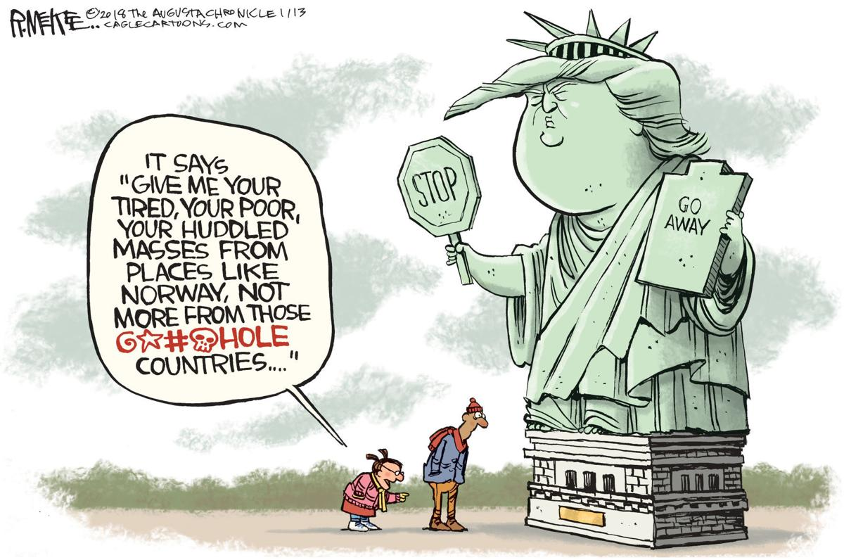 Trump Stands In For Statue Of Liberty In Rick Mckee S