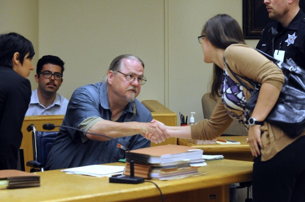 Frey greets UW-Madison law student