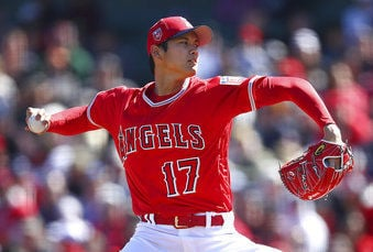 Shohei Ohtani pitches, AP photo