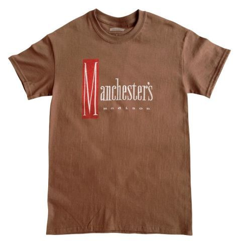 Manchester 39 s department store memorialized with retro t for T shirt printing madison wi