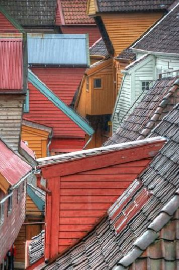 """Tyskebryggen Roofscape,"" by James Morovac. JAMES MOROVAC/PHOTO MIDWEST"