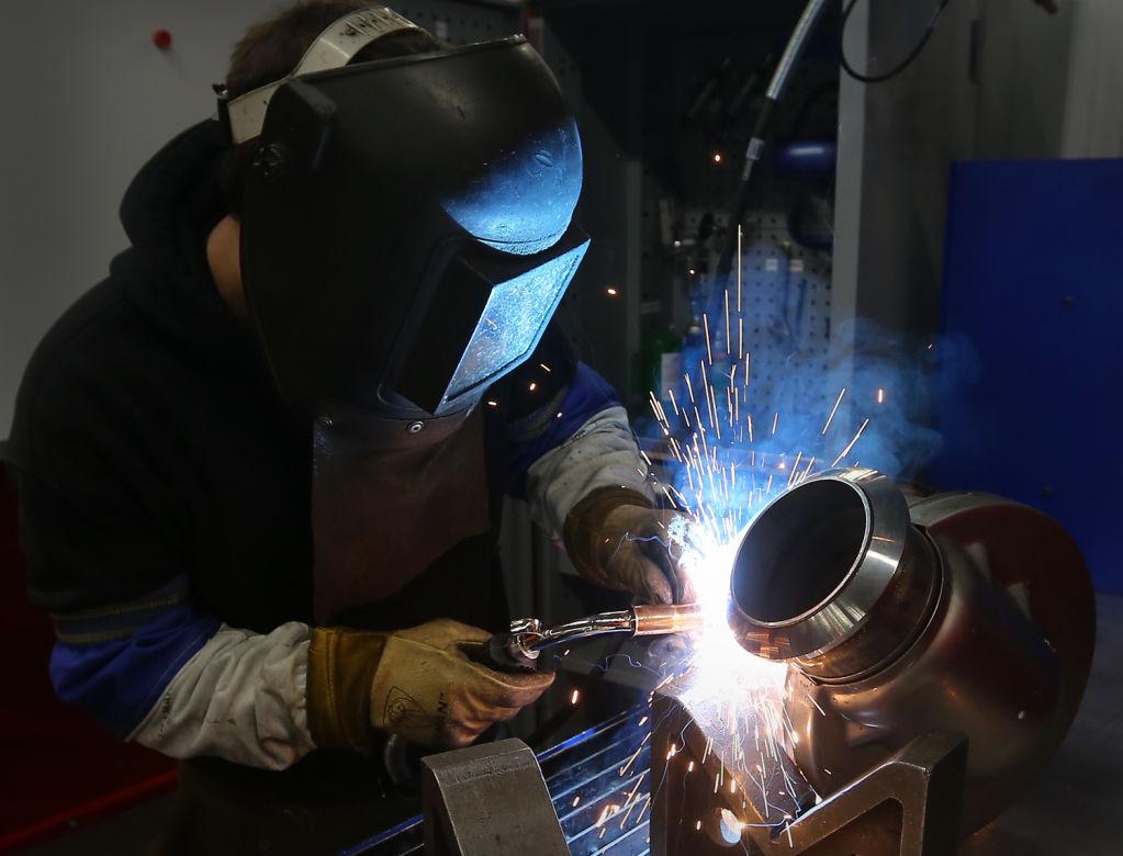 Cummins Emission Solutions welder at work
