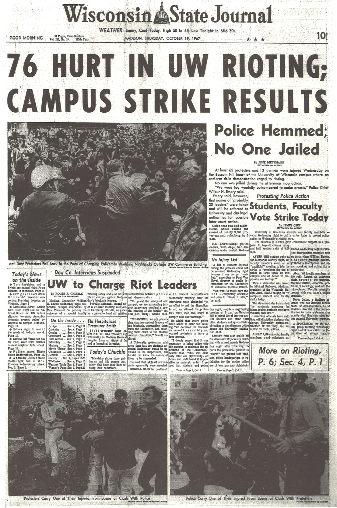 From the archives University of Wisconsin students protest the