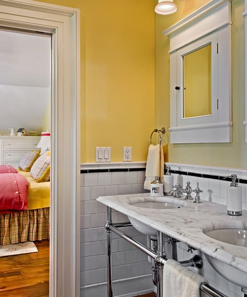 Houzz Crisp Architects: Four Ways To Use Color In A Bathroom