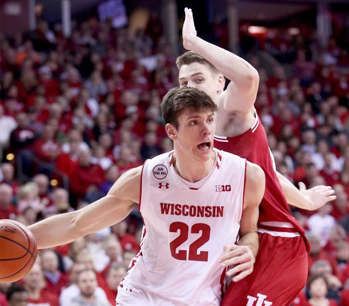 Ethan Happ in 2016-17, State Journal photo