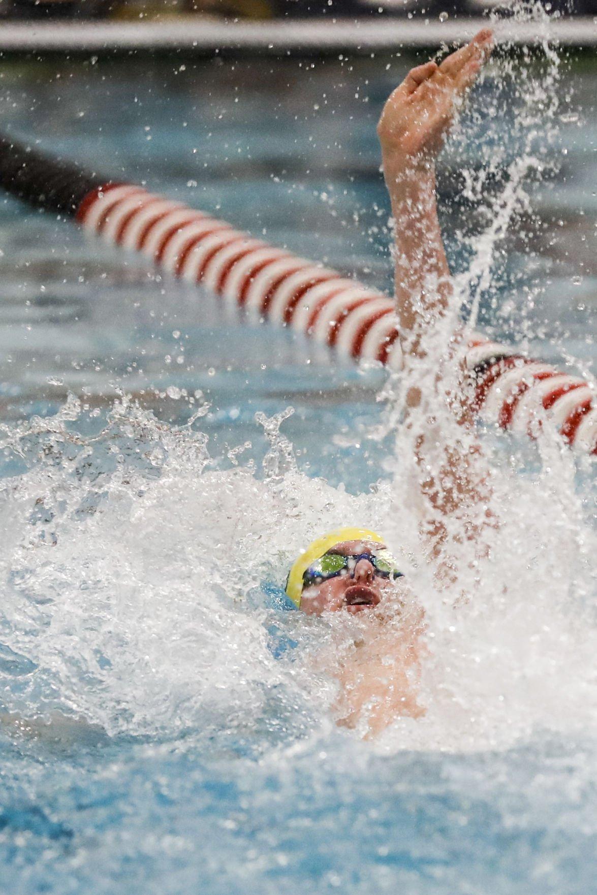 Prep swimming photo: Madison West's Wes Jekel at the Middleton Cardinal Invitational