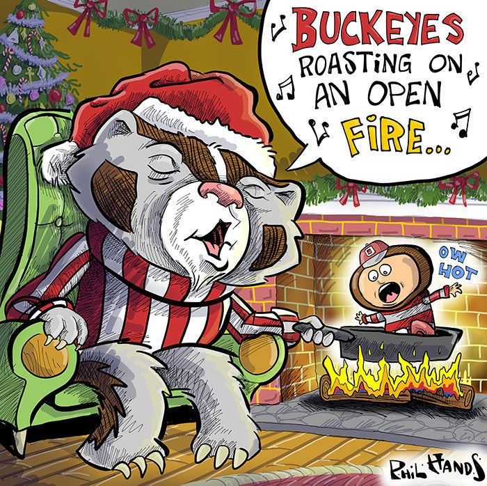 Bucky roasts buckeys