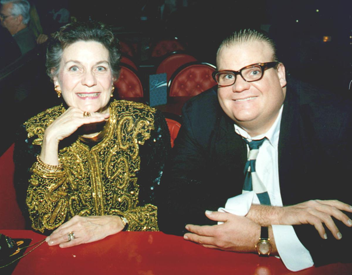 With his mother, Mary Anne Farley
