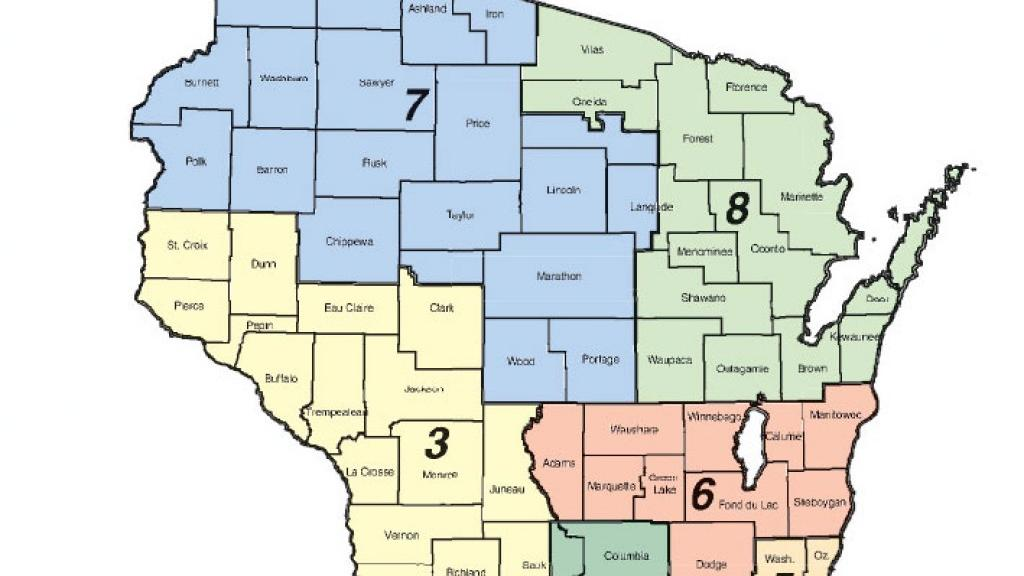 Town Planner Calendar Green Bay Wi : Wisconsin congressional district map host madison