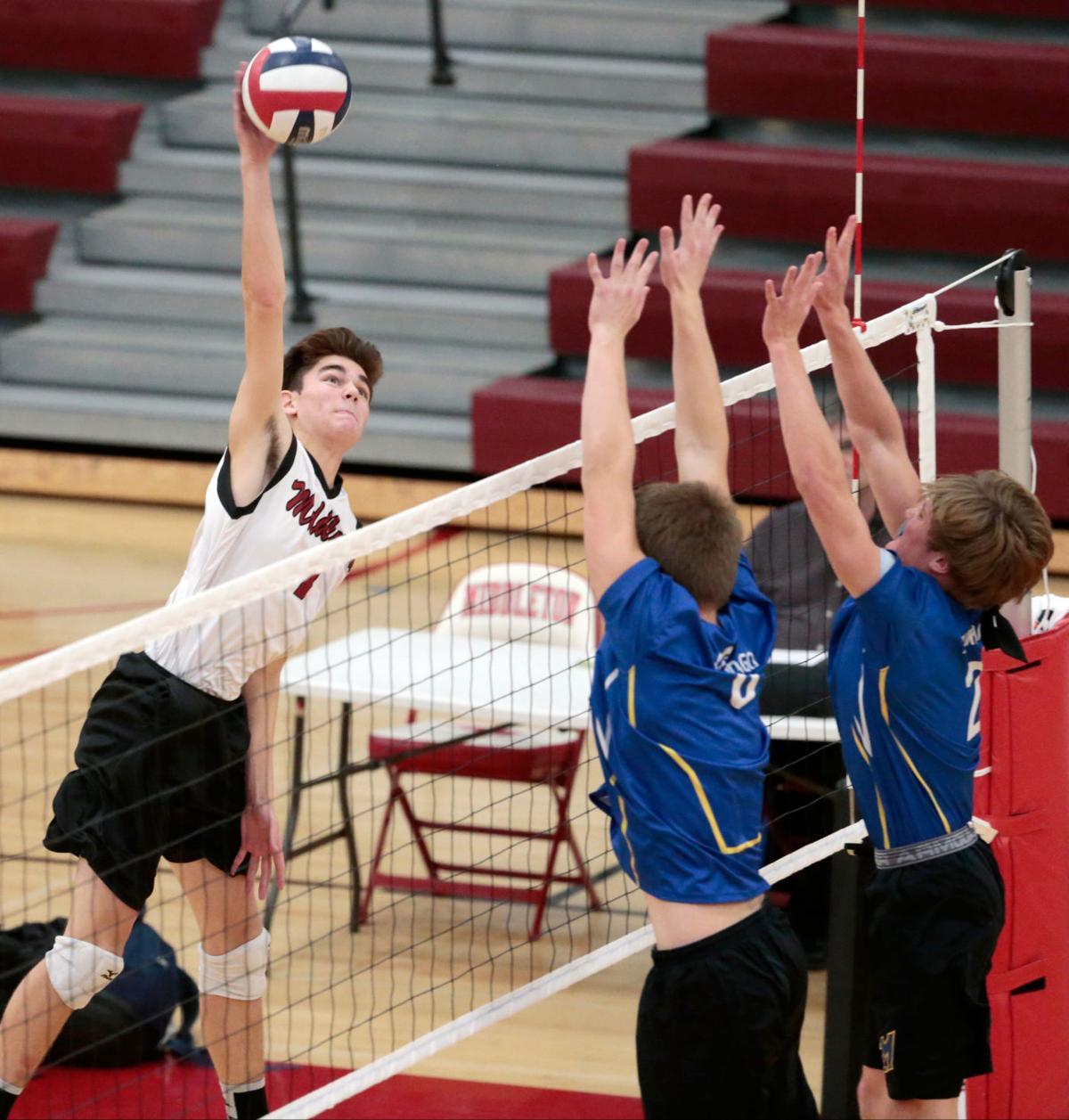 Prep boys volleyball photo: Middleton's Eagan Peters-Michaud