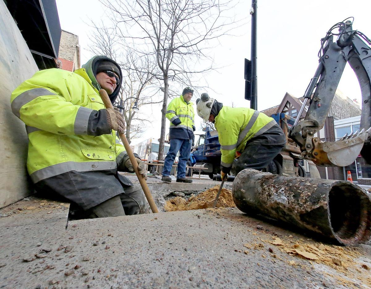 Frozen pipes, water main breaks, State Journal photo