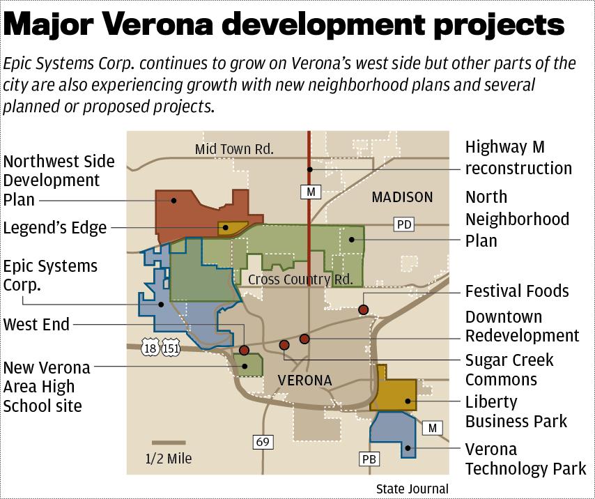 Verona developments map