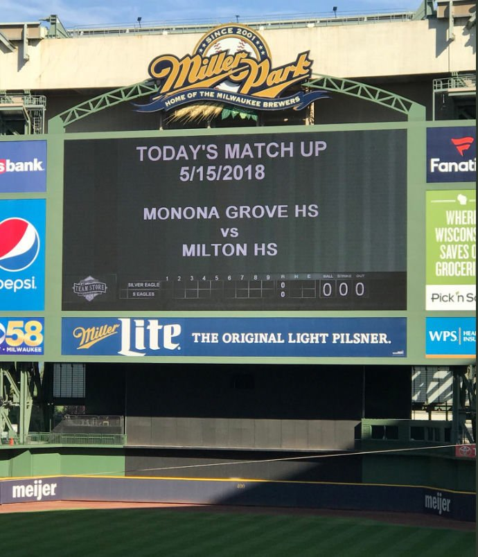 Monona Grove, Milton travel to Miller Park for a taste of the big time