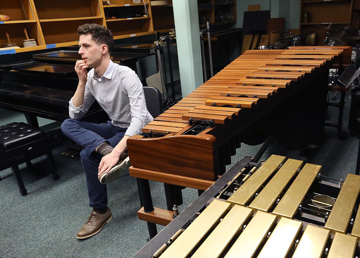 Aaron Gochberg with marimba