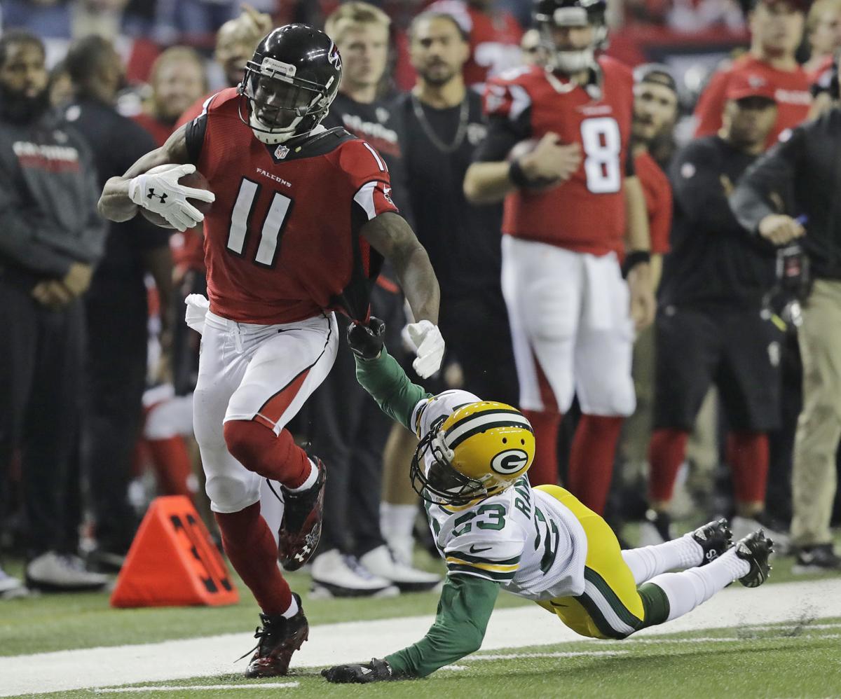 Julio Jones 73-yard TD in NFC title game, AP photo