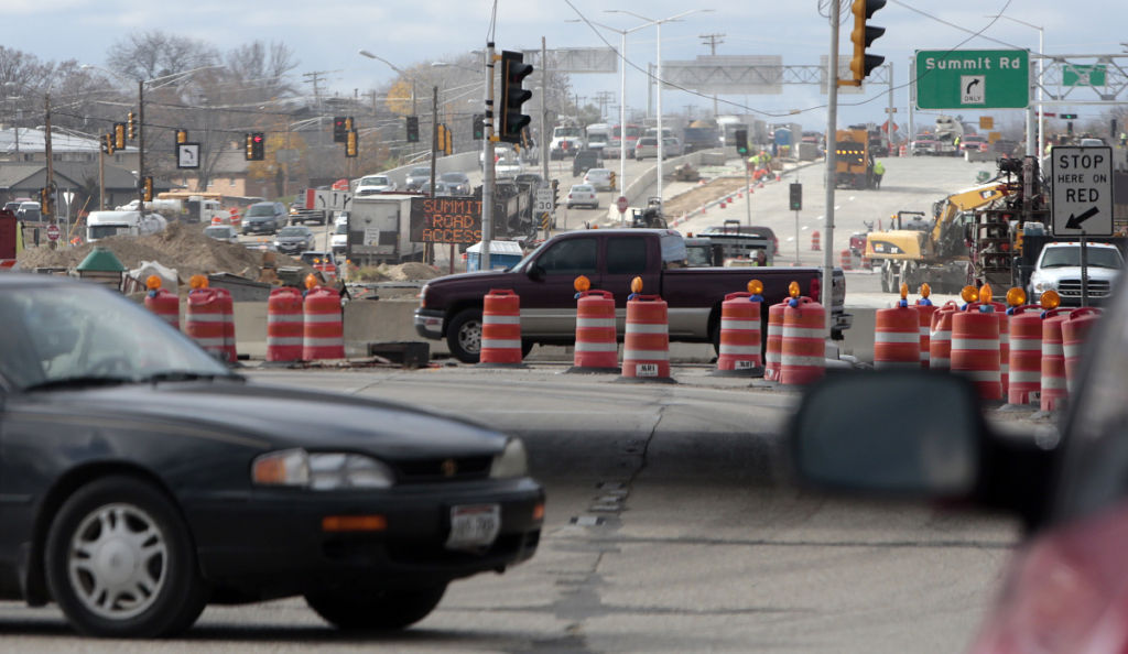 State DOT road budget proposal, State Journal photo, Beltline construction zone file photo