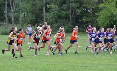 MS girls race
