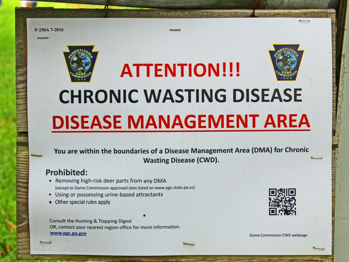 CWD Disease Management Area sign