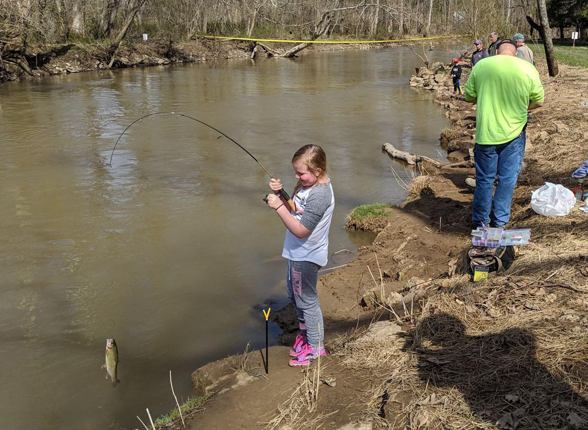 Young fishermen turn out for opening day of trout season