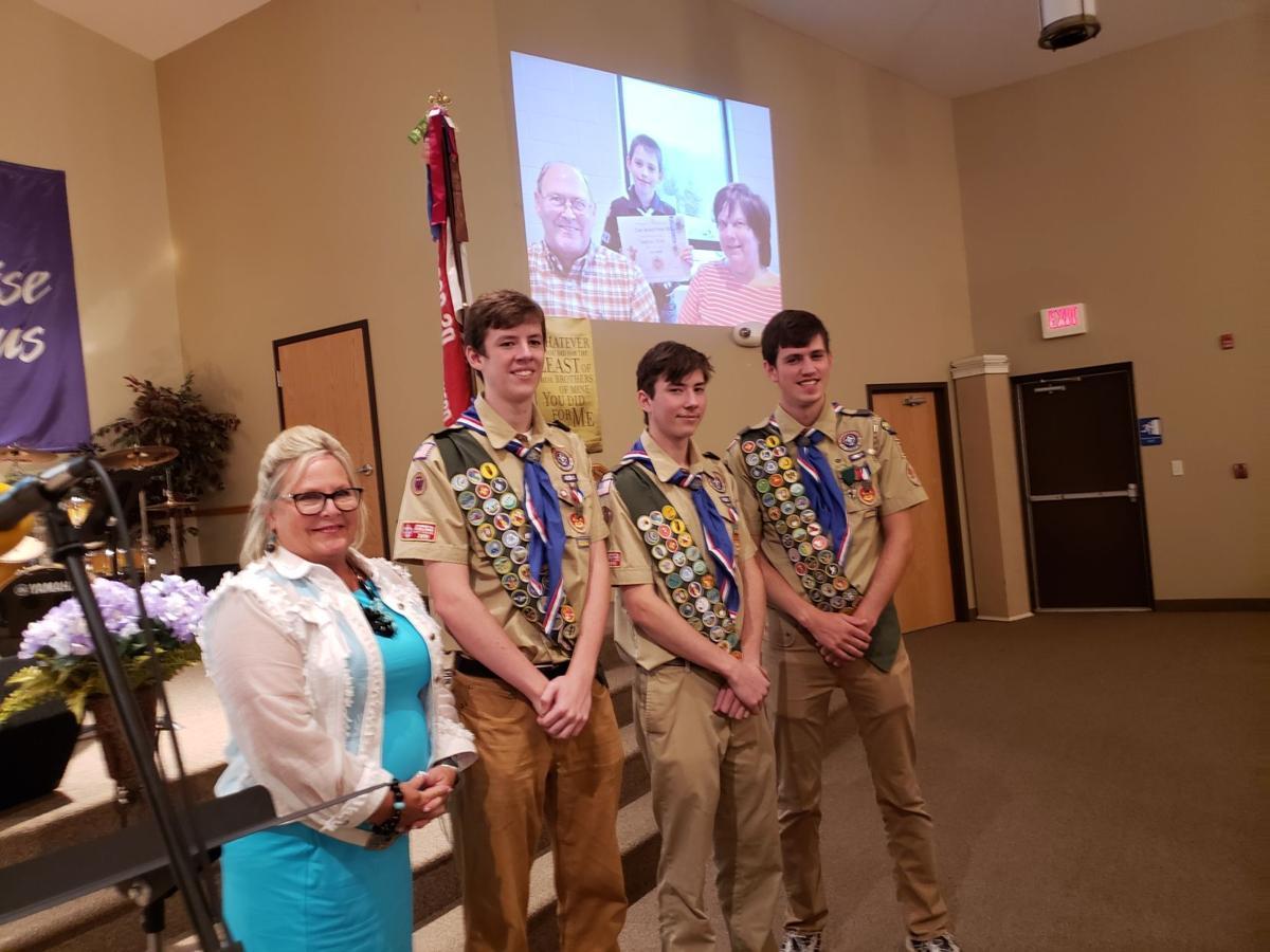 Eagle Scouts with Senator Judy Ward