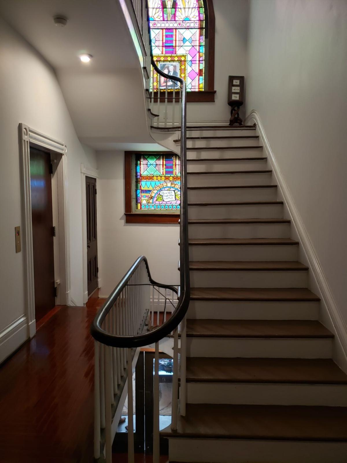 Forest Manor staircase after restoration