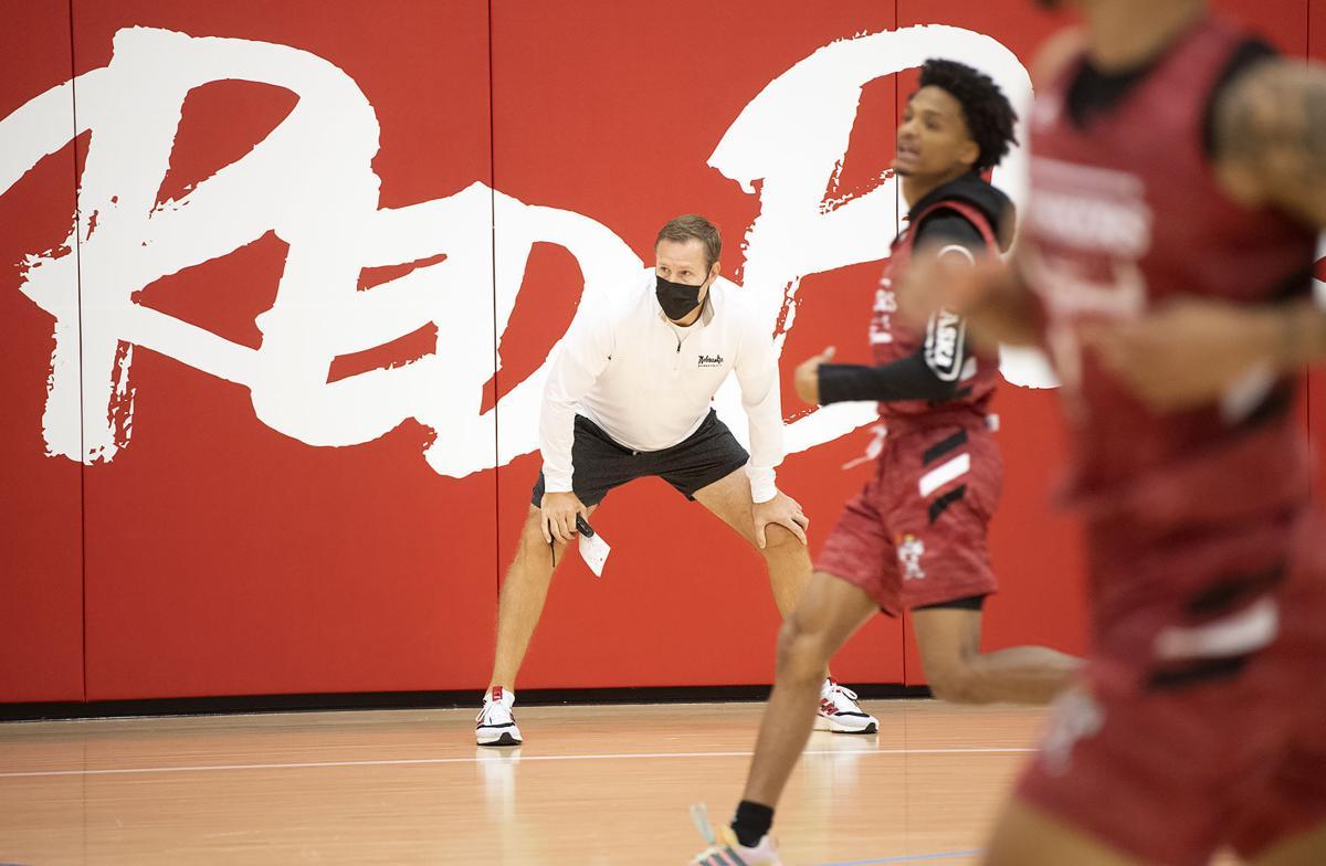NU men's basketball practice, 10.5