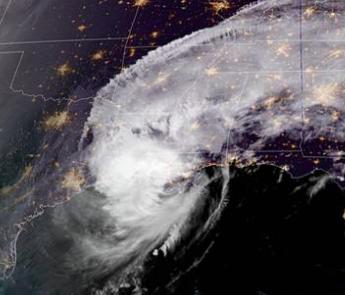 Delta landfall