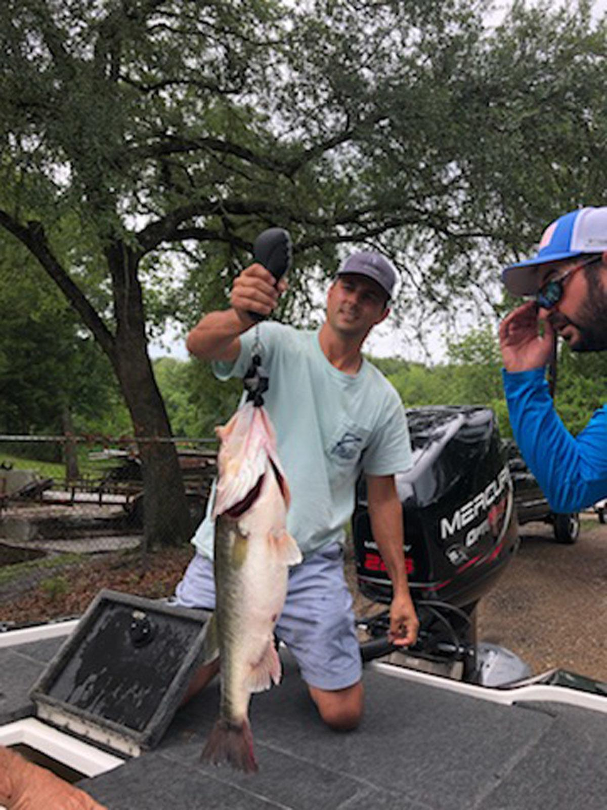 Fausse Pointe's biggest bass of spring — 9.21 — fooled by Verret's Alabama tactic