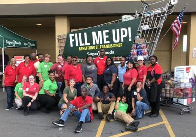 Super 1's donates $6,000 in food items, $1,000 to St. Francis Diner