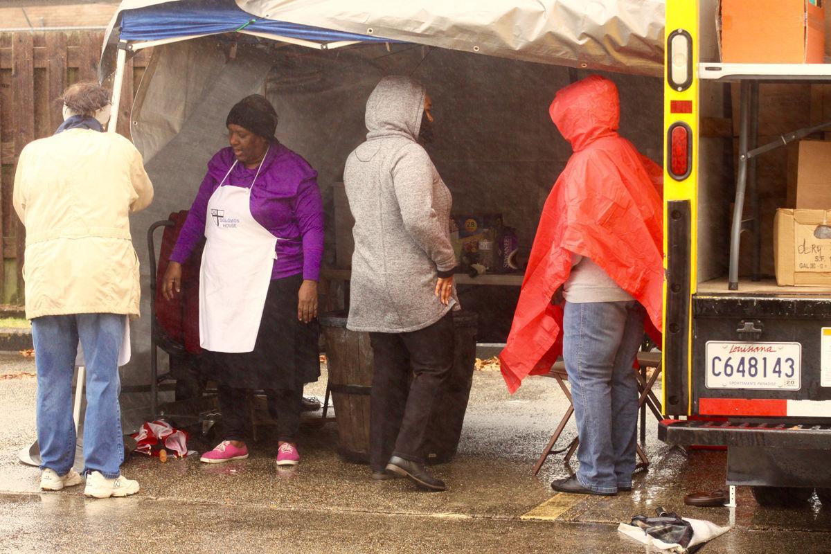 Local generosity shines despite rain