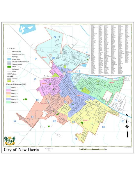 map of new iberia louisiana New Iberia Redistricting Maps Available Online Local News map of new iberia louisiana