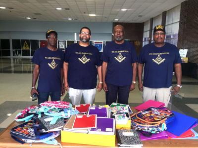 Masons Donate School Supplies