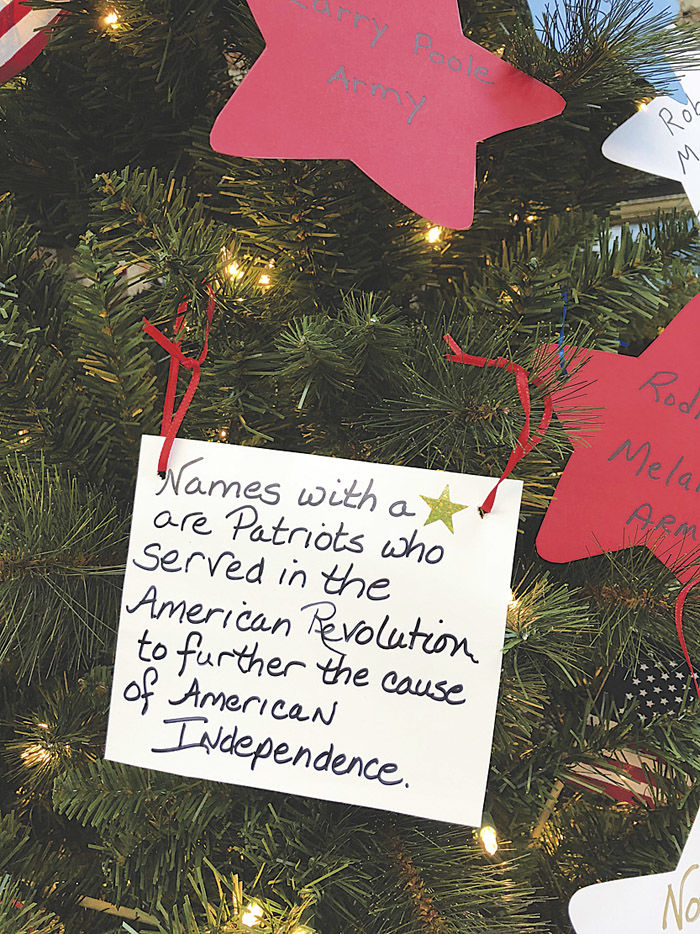 DAR invites the public to honor veterans and military at The Patriot Tree @ Tea