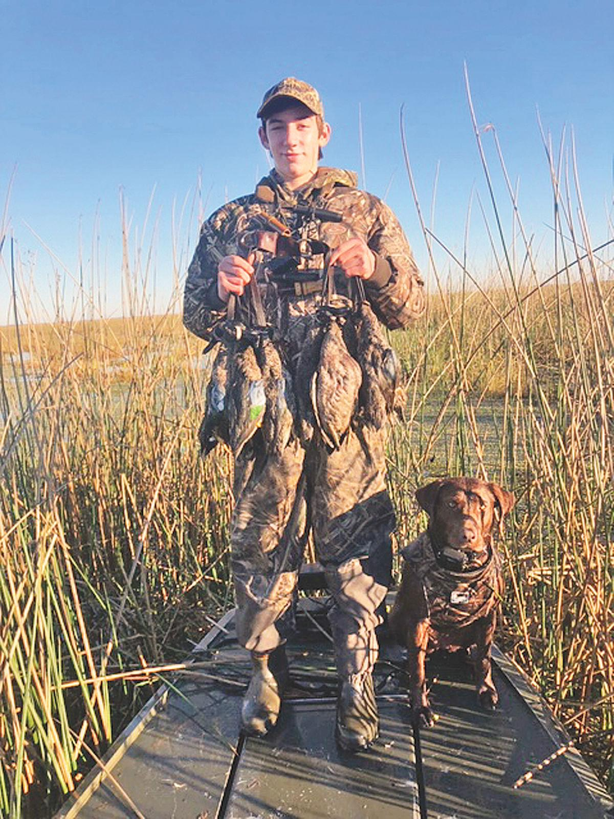 Derouen, 15, can't wait for teal opener on lease at Little Prairie
