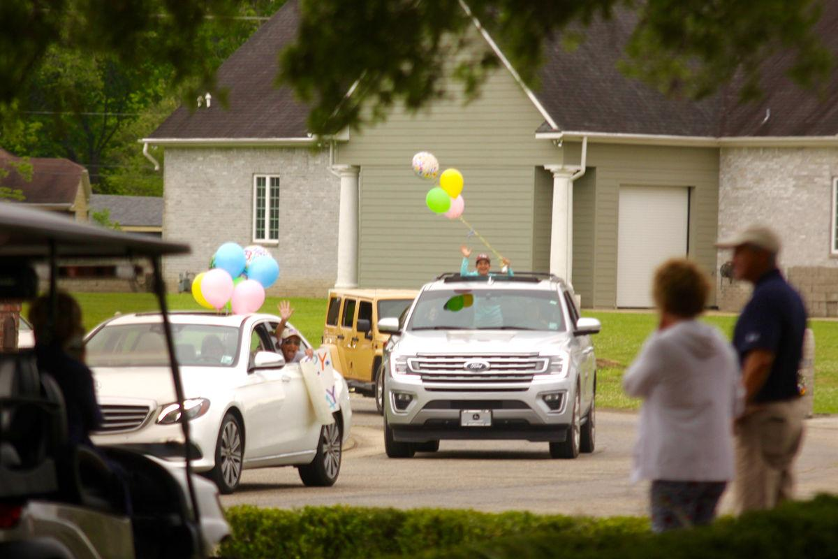 Neighbors, friends hold drive-by birthday 'party' for Oliva