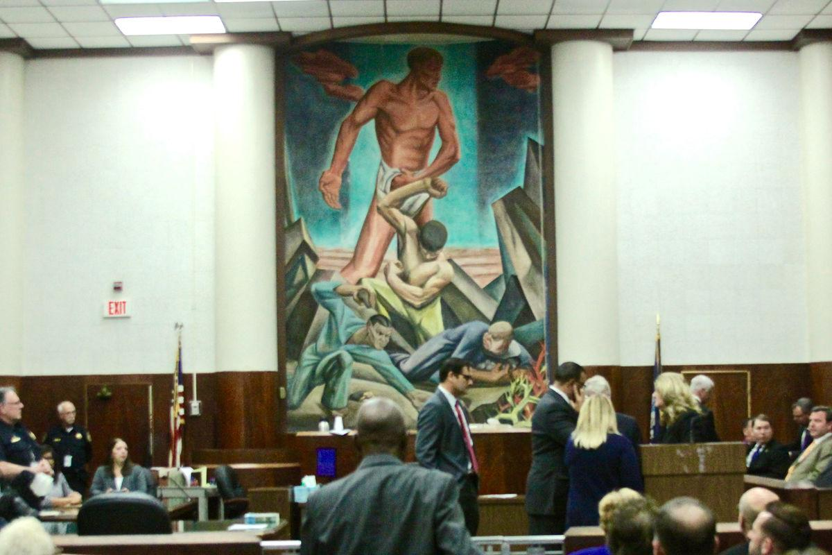 Courtroom mural under fire for apparent racist overtones