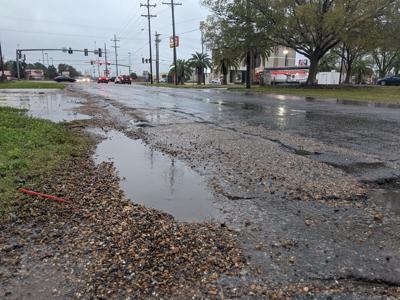 S. Lewis Street road repair