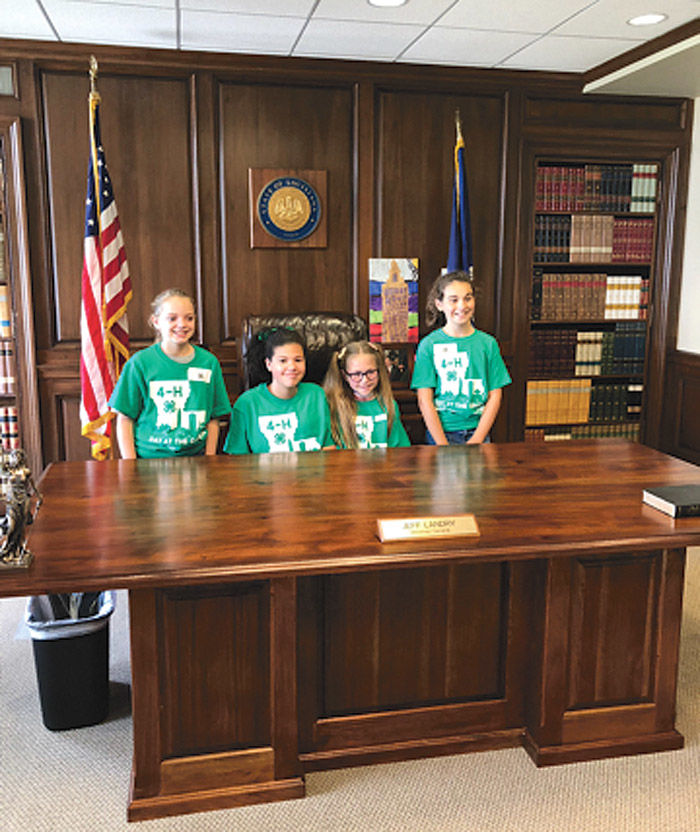Guess who experienced history this week? 4-H winners visit the Capitol