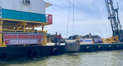 Chevron, LDWF, local donors join CCA to replace lost oil and gas platform habitat