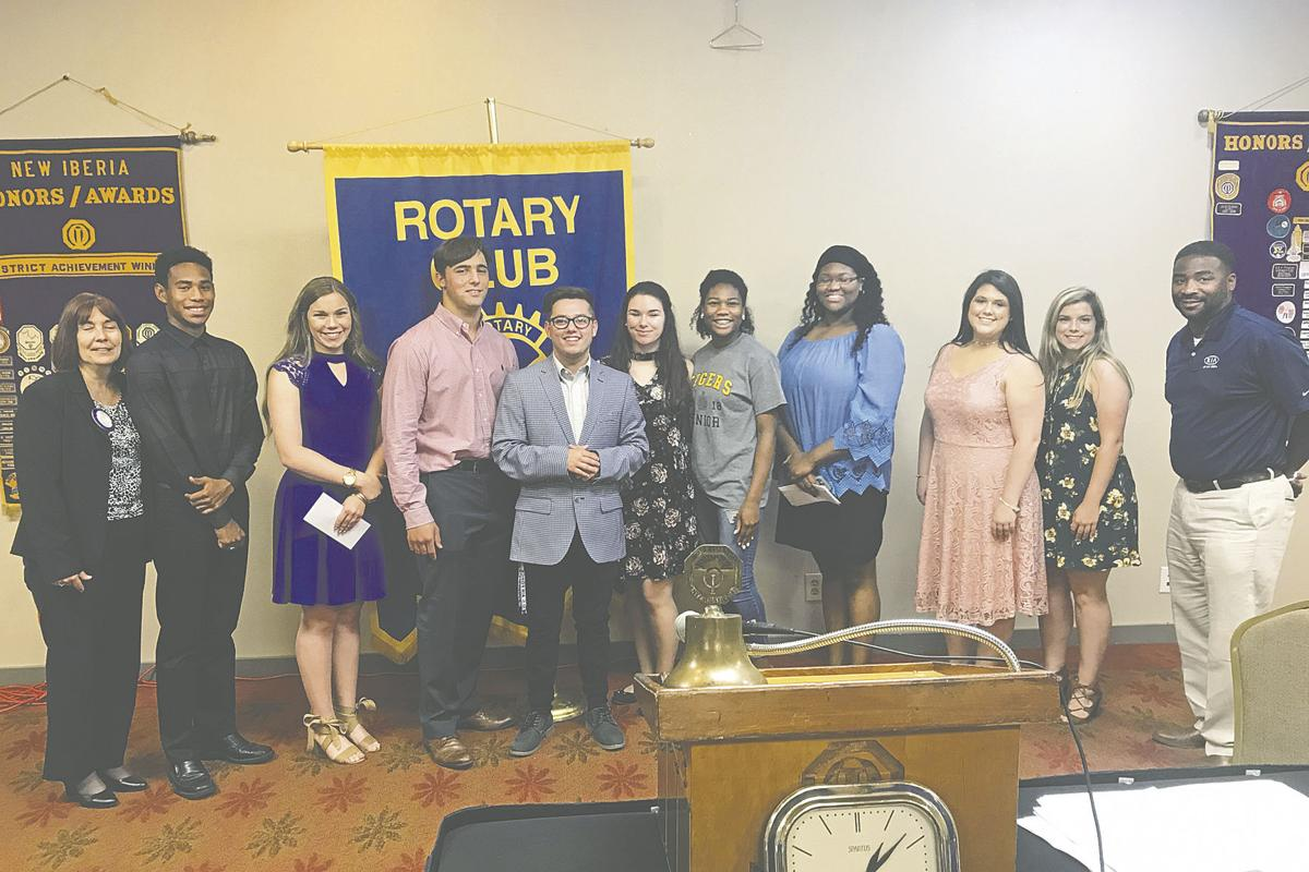 Rotary Club awards scholarship to student at each high school in parish