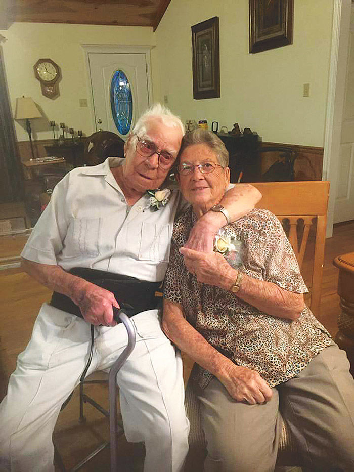 Celebrating 72 Years —Mr. and Mrs. Lawrence Huval