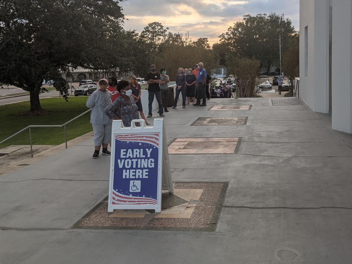 Record numbers turn out to vote early in area
