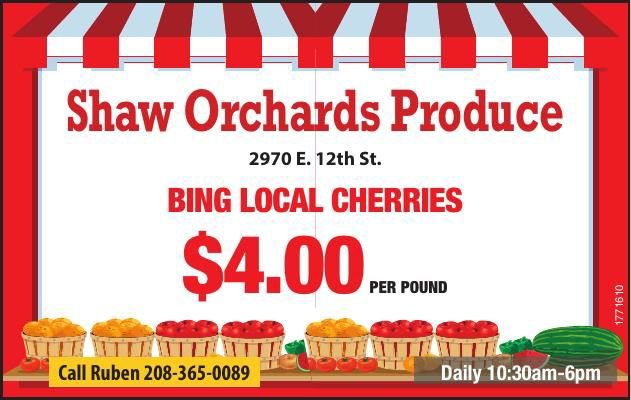 Shaw Orchards Produce
