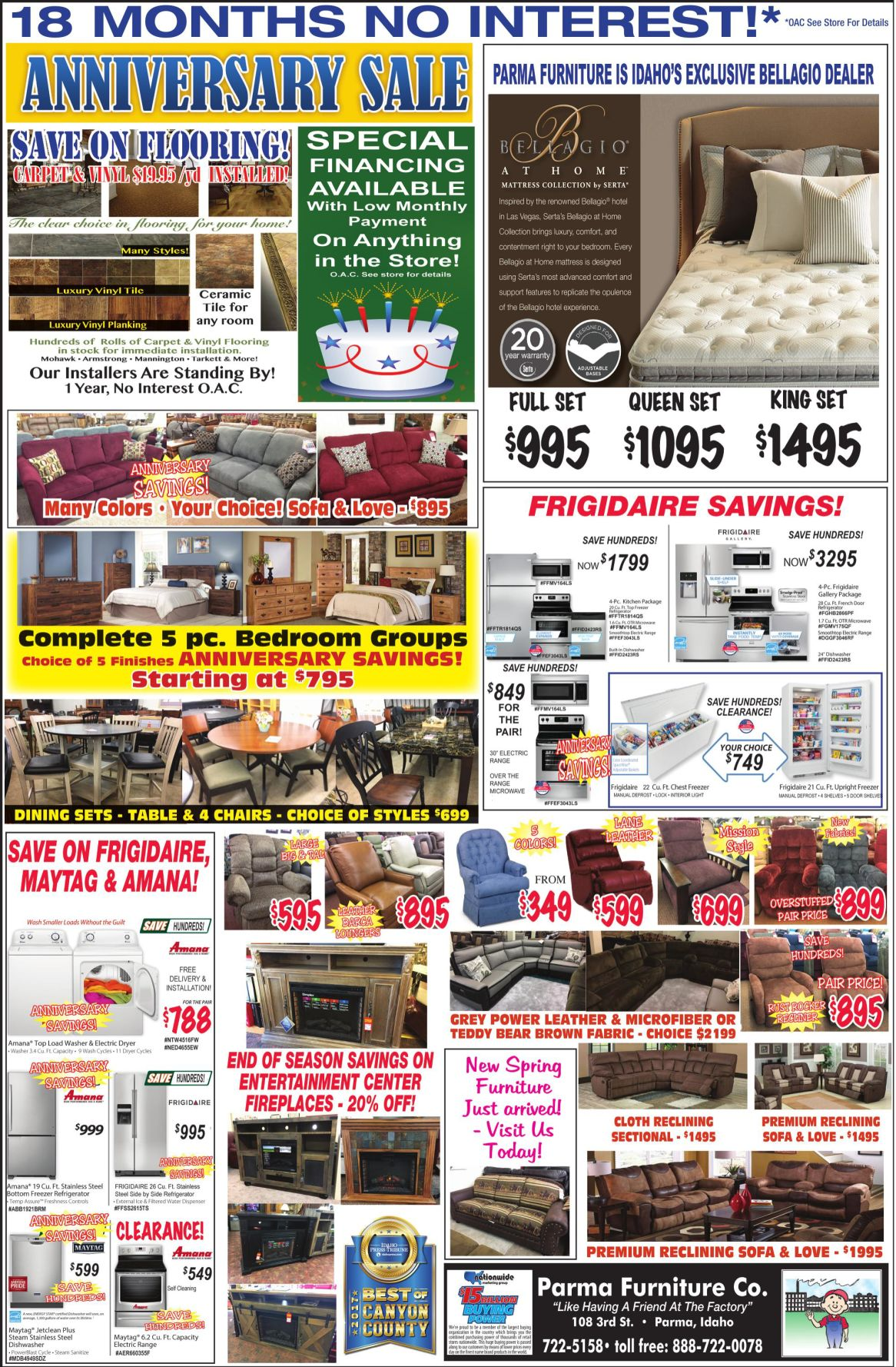 Parma Furniture Co Services