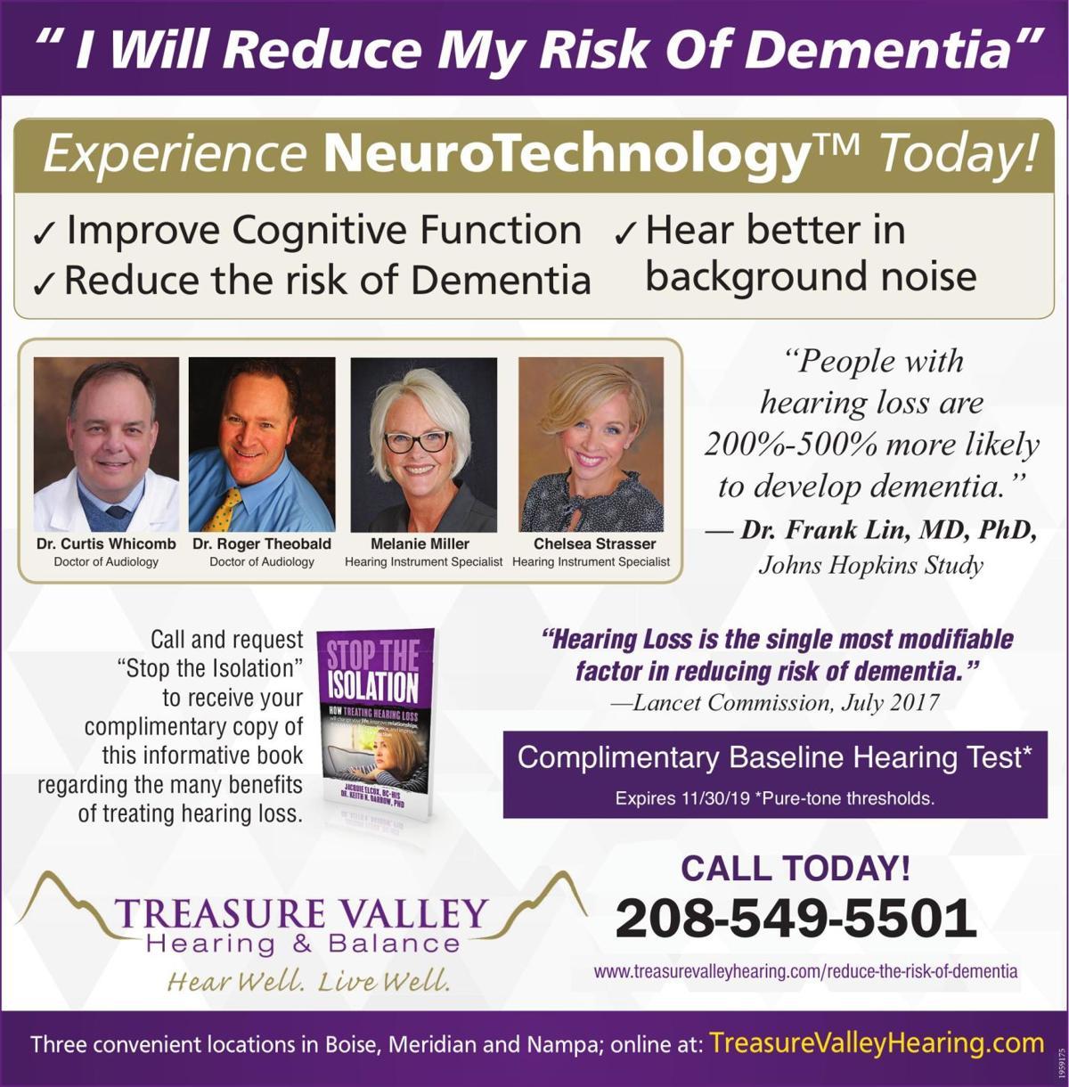 """ I Will Reduce My Risk Of Dementia"""